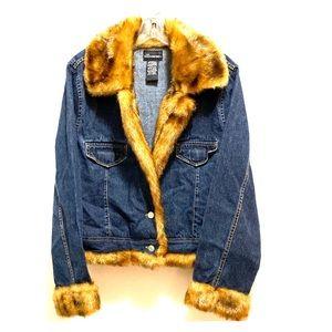 Faux Fur and Denim Jacket